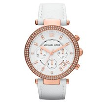 Michael Kors Rose gold Quartz White No numerals 38mm new