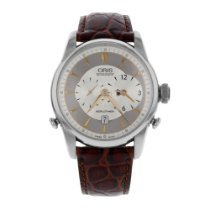 Oris Artelier Worldtimer Steel 46mm Silver United States of America, New York, New York