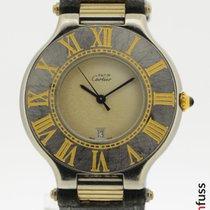 Cartier 21 Must de Cartier Gold/Stahl 35mm Weiß Römisch Deutschland, Stuttgart