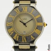 Cartier 21 Must de Cartier Gold/Steel 35mm White Roman numerals