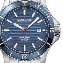 Wenger Steel 43mm Quartz 01.0641.120 new