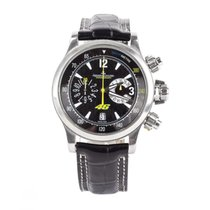 Jaeger-LeCoultre Steel Automatic Black Arabic numerals 41.5mm new Master Compressor Chronograph