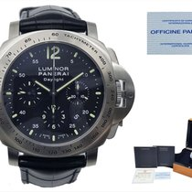 Panerai Luminor Chrono Steel 44mm Black Arabic numerals