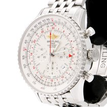 Breitling Navitimer GMT Staal 48mm Zilver