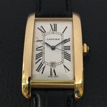 Cartier Tank American automatic 18k yellow Gold box and papers