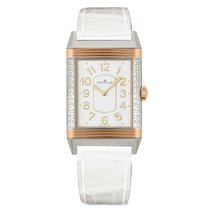 Jaeger-LeCoultre Grande Reverso Lady Ultra Thin Or/Acier 24mm Blanc