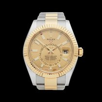 Rolex Skydweller Stainless Steel & 18k Yellow Gold Gents...