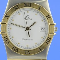 Omega Constellation Day-Date Acero y oro 35mm Blanco