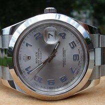 Rolex Oyster Datejust II Steel Silver Arabic Dial 41 mm (Full...