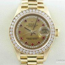 Rolex Lady Datejust 18k Gold Original Diamant Diamond Zifferbl...