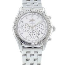 Breitling Shadow Flyback Steel 38mm White