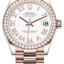 Rolex Datejust Oro rosado 31mm Blanco