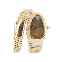 Bulgari Serpenti Gold/Steel 35mm Grey