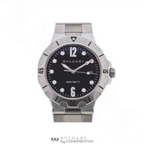 Bulgari Steel 38mm Automatic BVLGARI DIAGONO SCUBA DP41 S SD new