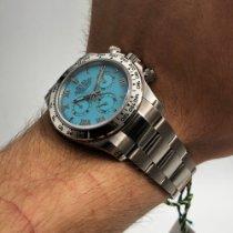 Rolex Daytona Ouro branco 40mm Azul Árabes