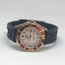 Breitling Lady J Gold/Steel 31mm White No numerals