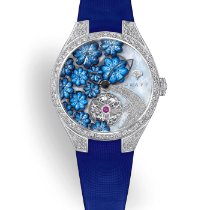 Graf White gold Automatic Blue No numerals 37mm new