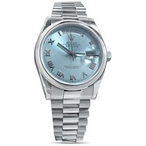 Rolex Day-Date 36 36mm Blue Roman numerals