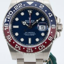 Rolex GMT-Master II White gold 40mm Blue No numerals