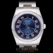 Rolex Air King Ocel 34mm Modrá Arabské