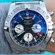 Breitling Chronomat 44 GMT Сталь 44mm Чёрный Без цифр
