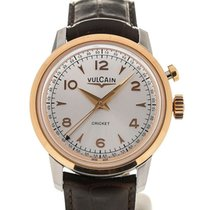 Vulcain Heritage Presidents' Watch 39 Pink Gold Silver-ton...
