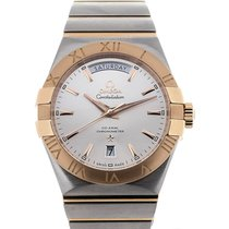 Omega Constellation Day-Date neu 38mm Gold/Stahl