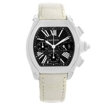 Cartier Roadster Chronograph Black Dial White Strap Watch...