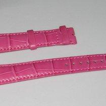 Breguet Original 18 x 16mm Pink Alligator Leather Band For W...