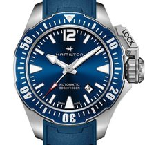 Hamilton Khaki Navy Frogman Automatic Blue Dial Rubber Swiss...