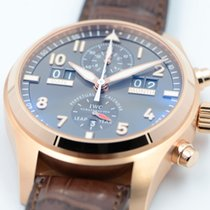IWC Pilot Spitfire Perpetual Calendar Digital Date-Month Or rose 46mm Gris