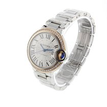 Cartier Ballon Bleu 33mm new Quartz Watch with original box and original papers WE902080