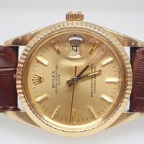 Rolex Date 1985 Vintage 18k Yellow Gold GM Buick Mens Watch...