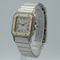 Cartier Santos Galbée tweedehands 29mm Goud/Staal