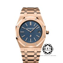 Audemars Piguet Royal Oak Jumbo Rose gold 39mm Blue No numerals