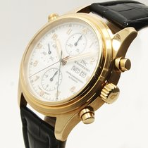 IWC Yellow gold Automatic 41.5mm Pilot Double Chronograph
