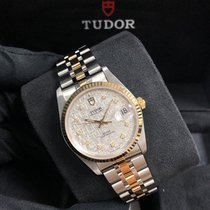 Tudor Prince Date Gold/Steel 34mm Silver