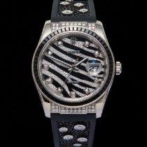 Rolex Datejust Oro blanco 36mm Negro Sin cifras