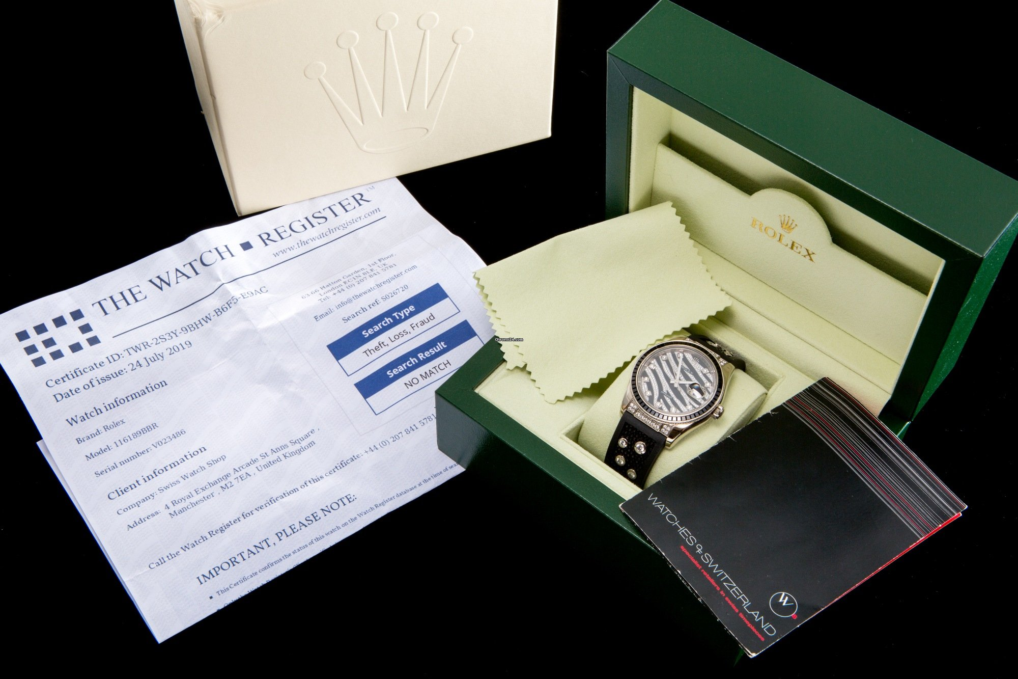 Rolex Datejust Zebra ltd edition for £29,950 for sale from a
