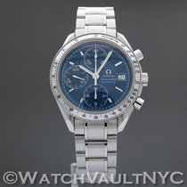 Omega Speedmaster Date Steel 39mm Blue United States of America, New York, White Plains
