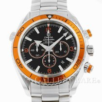 Omega Seamaster Planet Ocean Chronograph Steel 45.5mm Black Arabic numerals