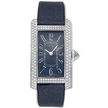 Cartier Tank Americaine Ladies' Watch 18K White Gold Blue...