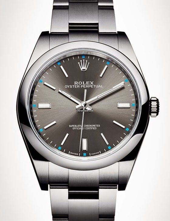 rolex oyster perpetual 39mm rhodium 114300 for 4 128. Black Bedroom Furniture Sets. Home Design Ideas