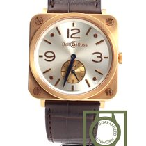 Bell & Ross BR S Pink Gold Pearl Dial Crocodile Strap NEW