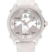 Jacob & Co. . Diamond Dial Five Time Zone Collection Stainless...