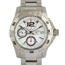 Longines 42mm Automatic pre-owned HydroConquest Silver