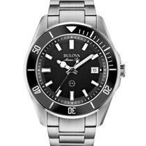 46e7453e71c Bulova Marine Star Quartz Black Dial Steel Bracelet 43mm