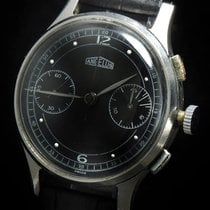 Angelus Steel 37mm Manual winding VINTAGE ANGELUS CHRONOGRAPH OVERSIZE JUMBO BLACK pre-owned