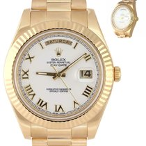 Rolex Day-Date II Yellow gold 41mm White United States of America, New York, Huntington
