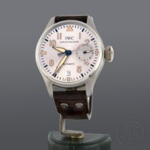 IWC Platinum Automatic Silver 46mm pre-owned Big Pilot